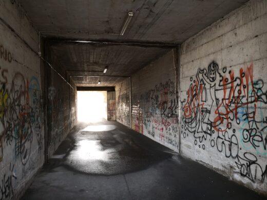 Lavori al sottopasso pedonale abbandonato di Santa Maria degli Angeli