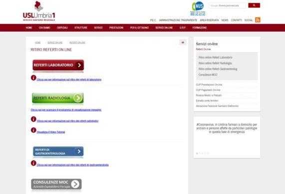 Il servizio di ritiro referti on line a disposizione dei cittadini. Accesso rapido e intuitivo