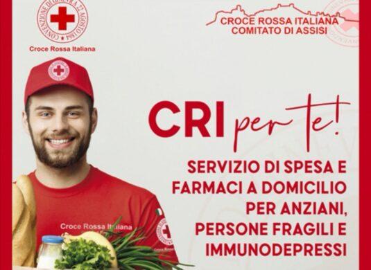 La Croce Rossa Italiana Comitato di Assisi attiva un servizio di spesa e farmaci a domicilio