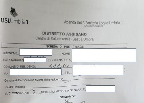 Si alza il livello di prevenzione per l'ingresso al Palazzo della Salute del Distretto USL Umbria 1 di Bastia Umbra
