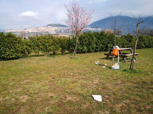 Assisi: parchi ed aree verdi deturpate e abbandonate al loro destino.